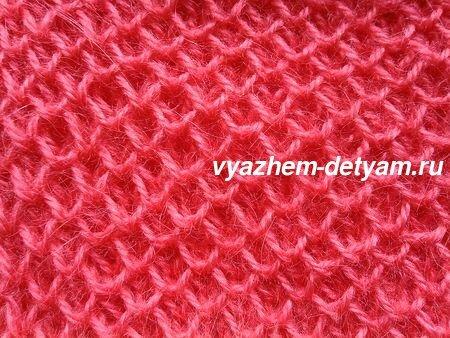 Вязание спицами узор Соты