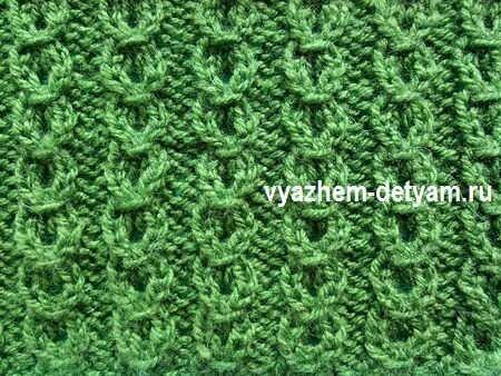 8 узор спицами для вязания детям