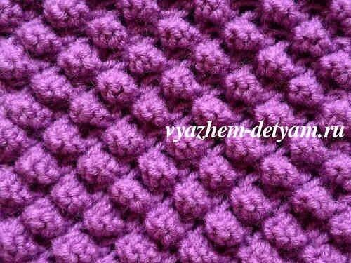 узор спицами пупырышки для вязания детям