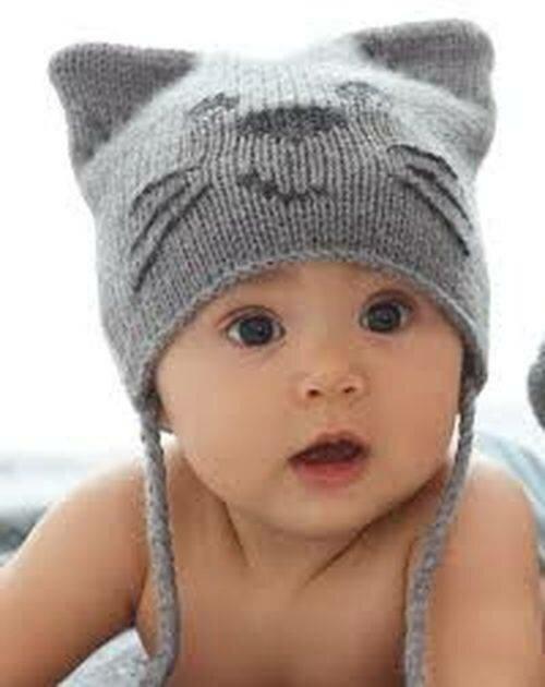 детская шапка с ушками спицами описание вяжем детям