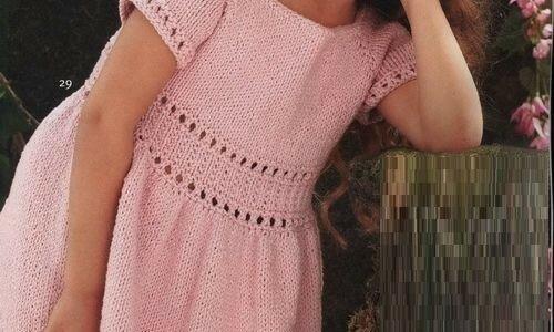 Связать платье для девочки из хлопка спицами