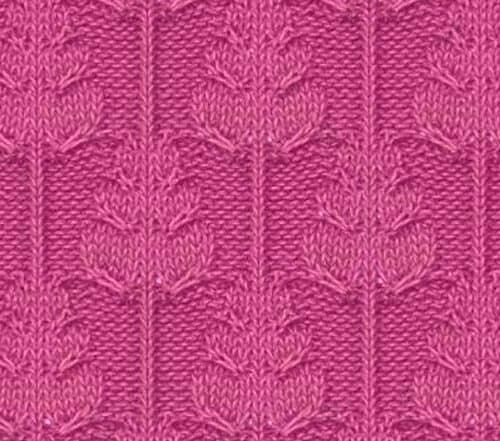 вязание спицами для детей описание узора с листьями