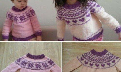Вязание спицами свитера «лопапейса» Видео
