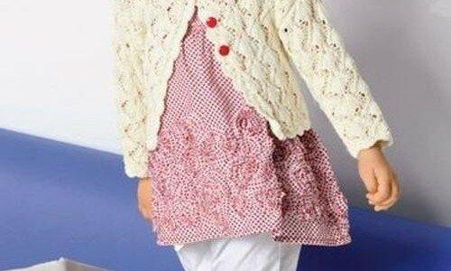 Схема для вязания спицами ажурной кофточки для девочки