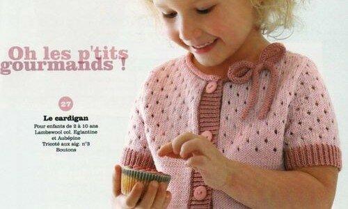 Схема ажурной кофточки для девочки