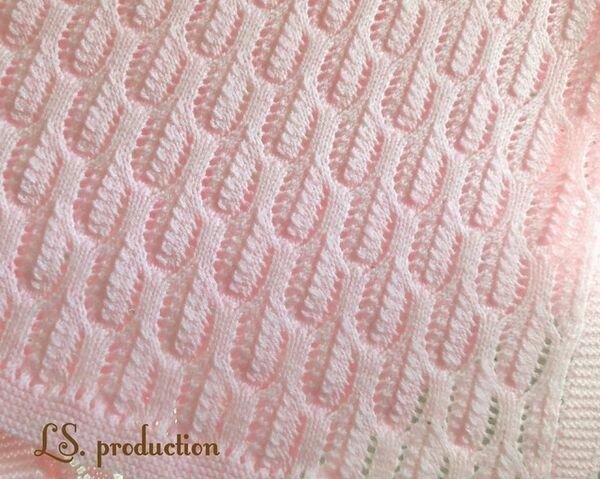 пряжа с петлями для вязания пледа