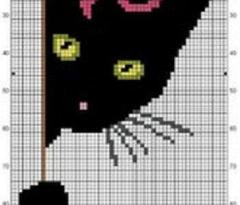 Схемы котов для вязания спицами