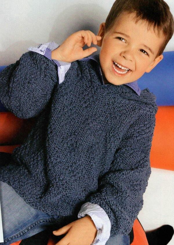 Детский пуловер с капюшоном