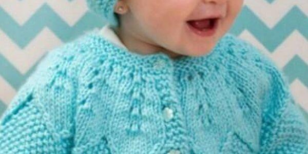 Вязание кофточки и шапочки спицами для ребенка на 1 год