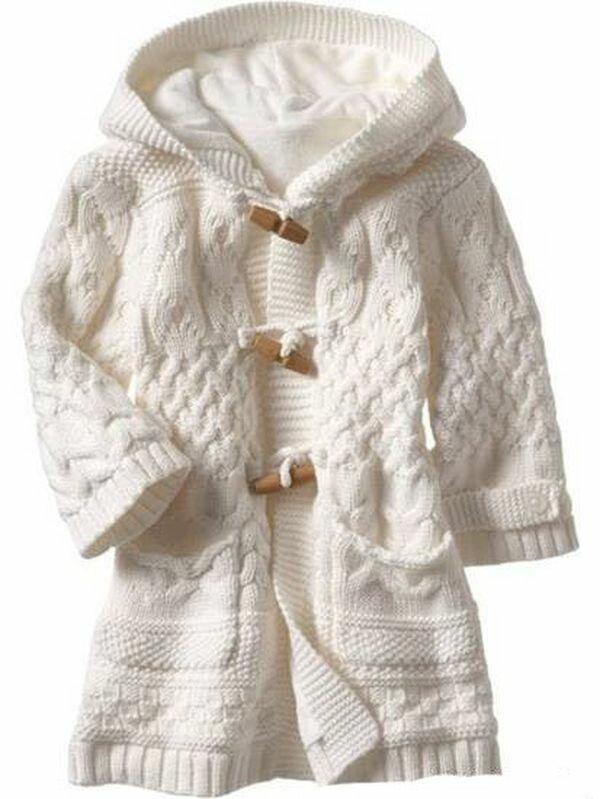 Вязание спицами пальто для девочки на возраст 2 года ...