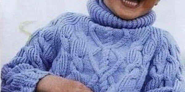 Косы для детского пуловера — схемы