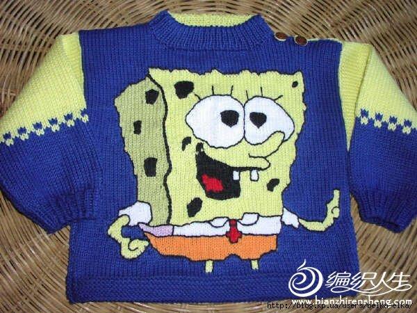 Жаккардовый узор Спанчбоб для детского пуловера (1)